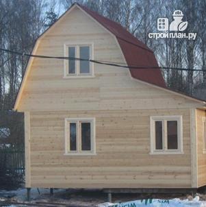 Фото 2: проект деревянный дом с мансардой и верандой