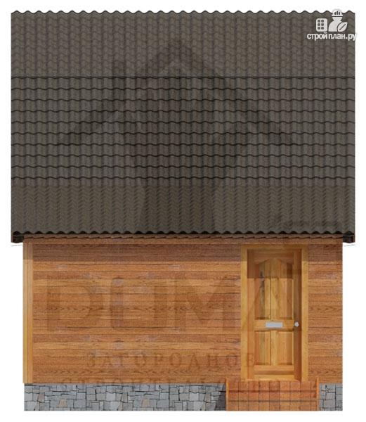 Фото 4: проект деревянный дом с мансардой и верандой