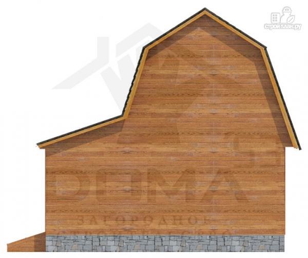 Фото 5: проект деревянный дом с мансардой и верандой