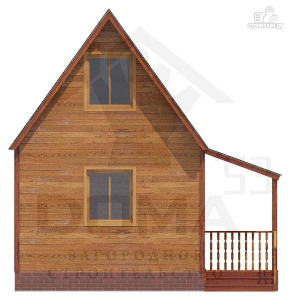 Фото 2: проект дачный дом из профилированного бруса с крыльцом