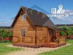 Фото: проект дачный дом из профилированного бруса с крыльцом