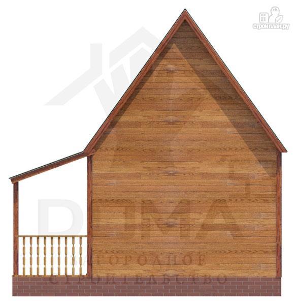 Фото 4: проект дачный дом из профилированного бруса с крыльцом