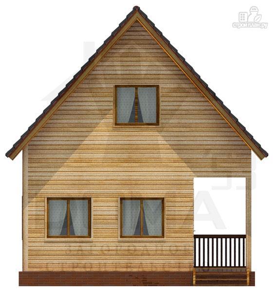 Фото 2: проект дом из профилированного бруса с террасой