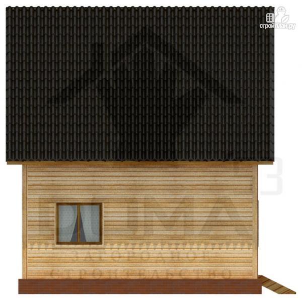 Фото 5: проект дом из профилированного бруса с террасой