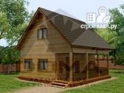 Проект дом из профилированного бруса с террасой