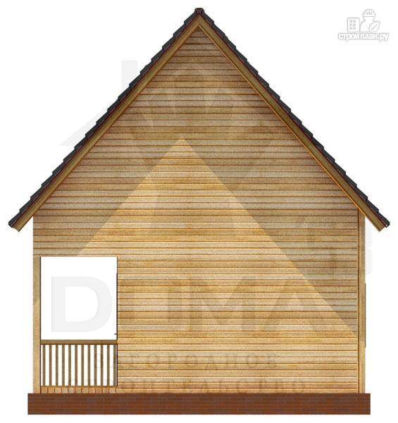 Фото 4: проект дом из профилированного бруса с террасой
