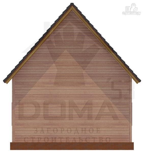 Фото 4: проект деревянный дом с террасой и мансардой