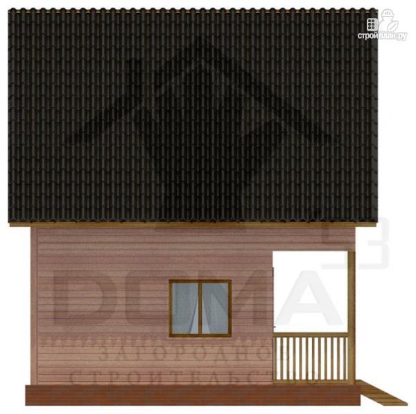 Фото 5: проект деревянный дом с террасой и мансардой