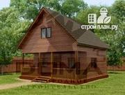 Фото: деревянный дом с террасой и мансардой