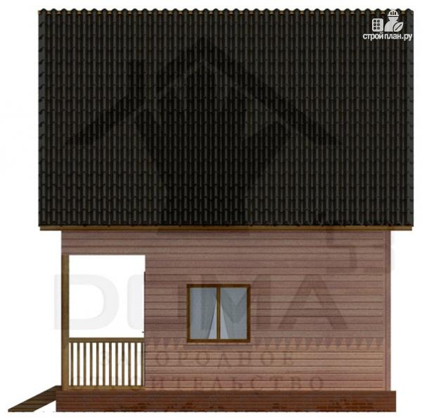 Фото 3: проект деревянный дом с террасой и мансардой