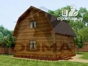 Фото: дачный дом 6х6 из профилированного бруса