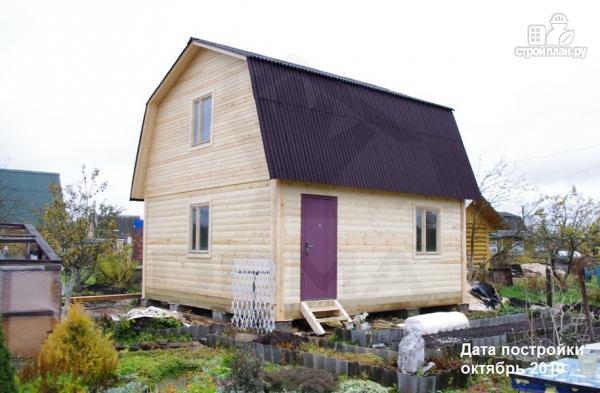 Фото 13: проект дачный дом 6х6 из профилированного бруса