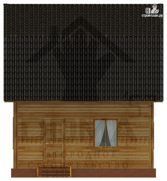 Фото 5: проект дачный дом 6х6 из профилированного бруса