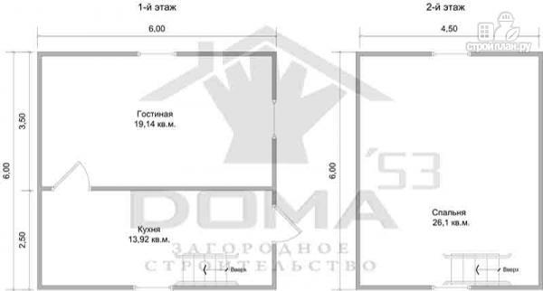Фото 6: проект дачный дом 6х6 из профилированного бруса