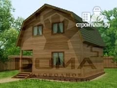 Фото: проект дом из профилированного бруса с мансардным этажом