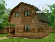 Проект дом из профилированного бруса с мансардным этажом