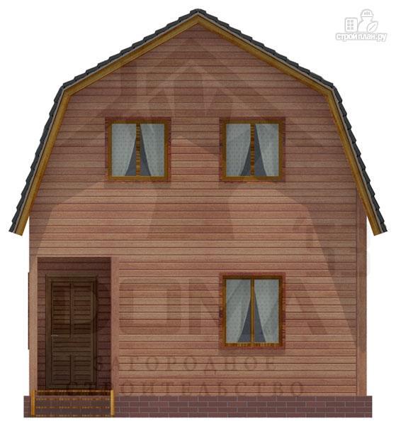 Фото 2: проект дом из профилированного бруса с мансардным этажом