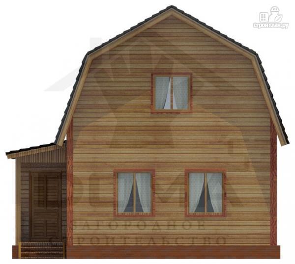 Фото 2: проект деревянный дом с крыльцом