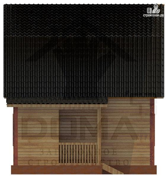 Фото 5: проект деревянный дом с крыльцом