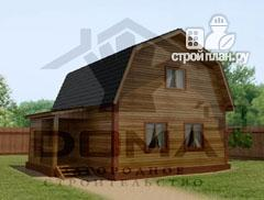 Фото: проект деревянный дом с крыльцом