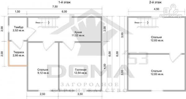 Фото 6: проект деревянный дом с крыльцом