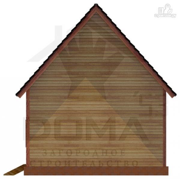 Фото 4: проект деревянный дом с эркером и мансардным этажом