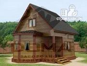 Фото: деревянный дом с эркером и мансардным этажом