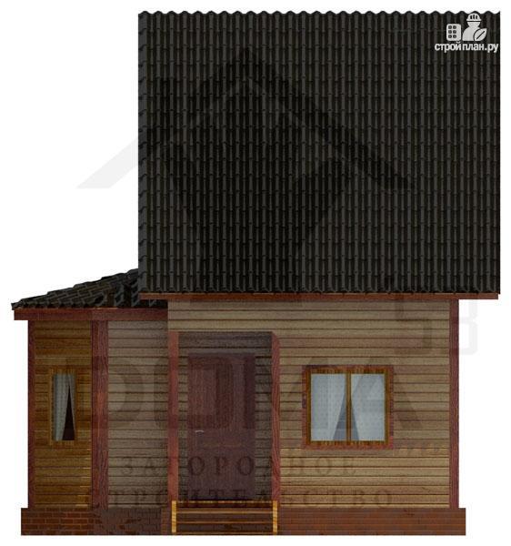 Фото 3: проект деревянный дом с эркером и мансардным этажом
