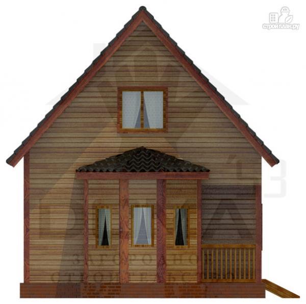 Фото 2: проект деревянный дом с эркером и мансардным этажом