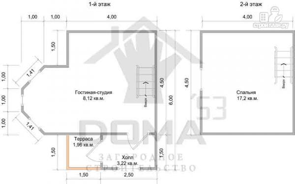 Фото 6: проект деревянный дом с эркером и мансардным этажом