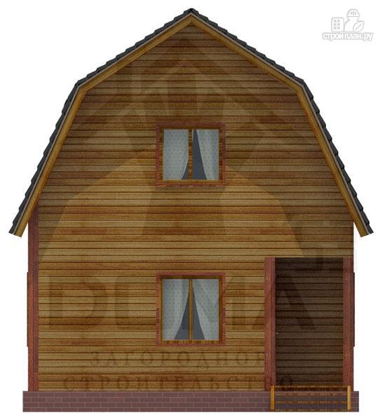 Фото 2: проект деревянный дачный дом на три спальни