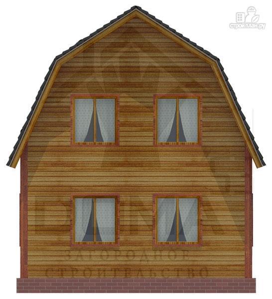 Фото 4: проект деревянный дачный дом на три спальни