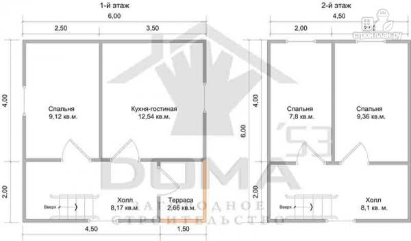 Фото 6: проект деревянный дачный дом на три спальни