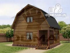 Фото: проект деревянный дачный дом на три спальни