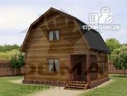 Фото: деревянный дачный дом на три спальни