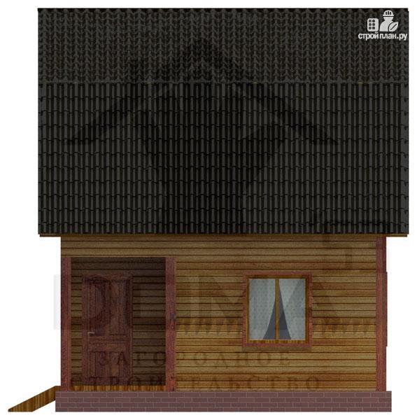 Фото 3: проект деревянный дачный дом на три спальни