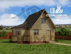 Фото: проект деревянный дом 5х5 с эркером