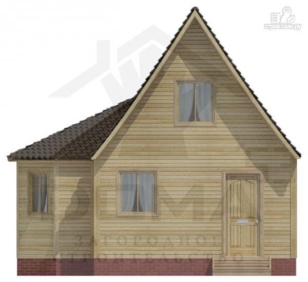 Фото 2: проект деревянный дом 5х5 с эркером