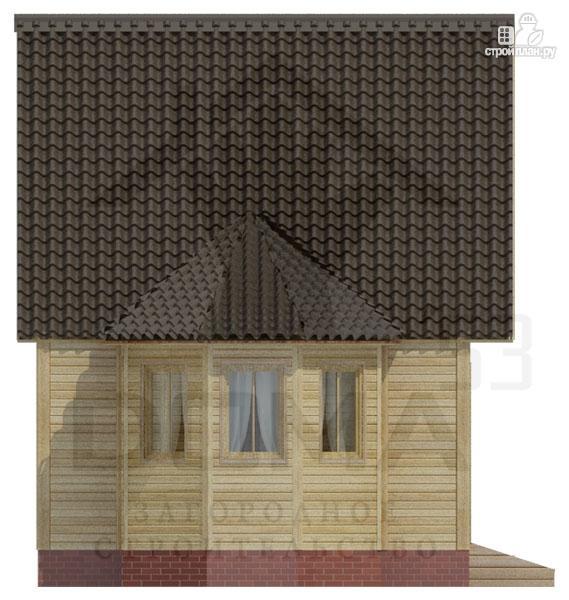 Фото 5: проект деревянный дом 5х5 с эркером