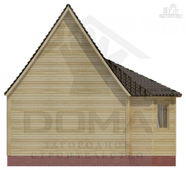 Фото 4: проект деревянный дом 5х5 с эркером