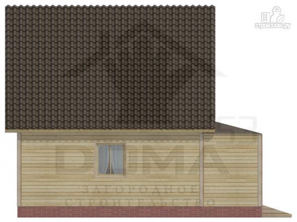 Фото 5: проект дом 6х8 из бруса с мансардной спальней