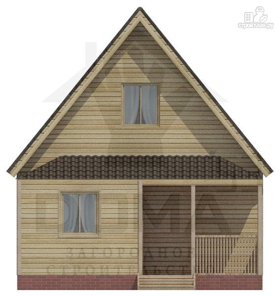 Фото 2: проект дом 6х8 из бруса с мансардной спальней