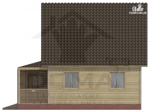Фото 3: проект дом 6х8 из бруса с мансардной спальней