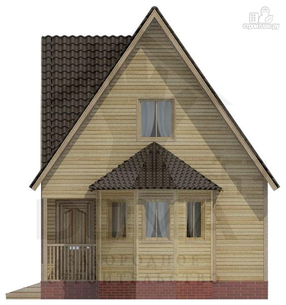 Фото 3: проект деревянный дом с гостиной-студией и эркером