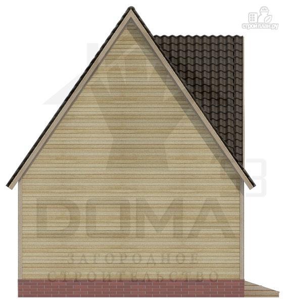Фото 5: проект деревянный дом с гостиной-студией и эркером