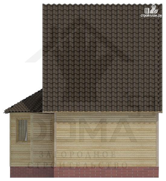 Фото 4: проект деревянный дом с гостиной-студией и эркером