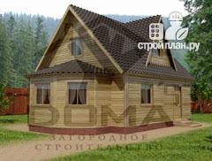 Фото: проект деревянный дом 6х6 с эркером