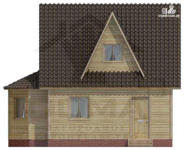 Фото 3: проект деревянный дом 6х6 с эркером