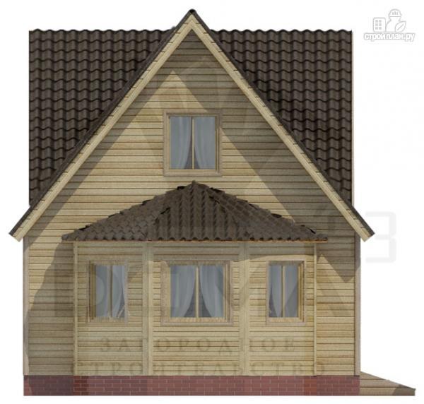 Фото 2: проект деревянный дом 6х6 с эркером