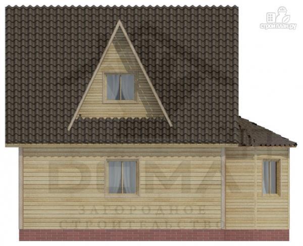Фото 5: проект деревянный дом 6х6 с эркером